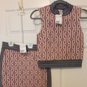 NWT Crop top Bodycon set